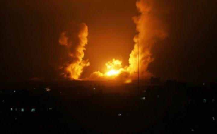 طيران الإحتلال الحربي يُغير على أهداف للفصائل في قطاع غزة