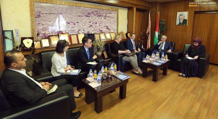 وفد من القنصلية الفرنسية العامة في القدس يزور النجاحلبحث سبل تطوير التعاون المشترك
