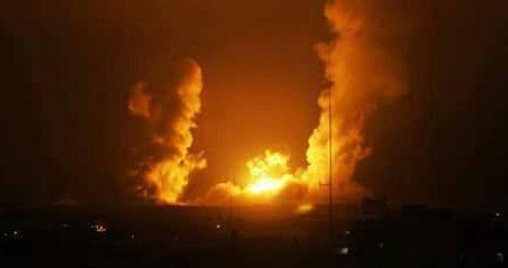 غزة: إصابات في قصف طائرات الاحتلال لمواقع فجراً