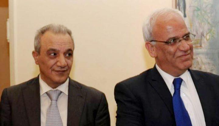 عريقات وفرج يلتقيان وزير الخارجية ومدير المخابرات الأردنيين