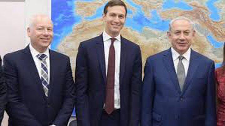 كوشنير وغرينبلات يلتقيان نتنياهو