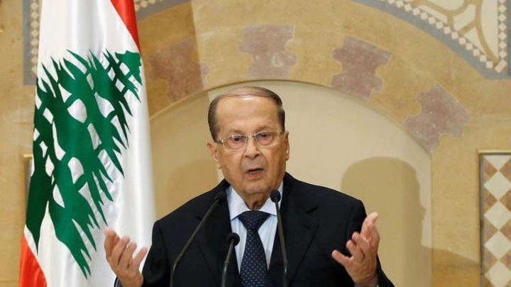 الرئيس اللبناني يدعو ألمانيا لإيجاد حل لموضوع النازحين وفق تصور لبنان
