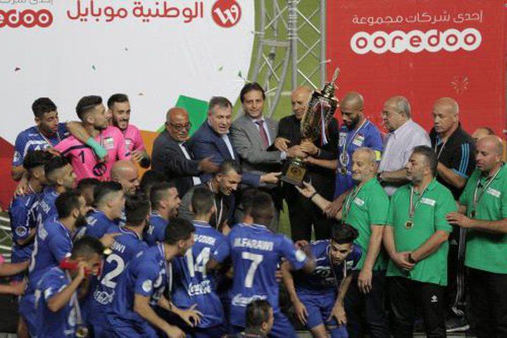 هلال العاصمة يكتسح شباب خان يونس بخماسية ويتوج بلقب كأس فلسطين