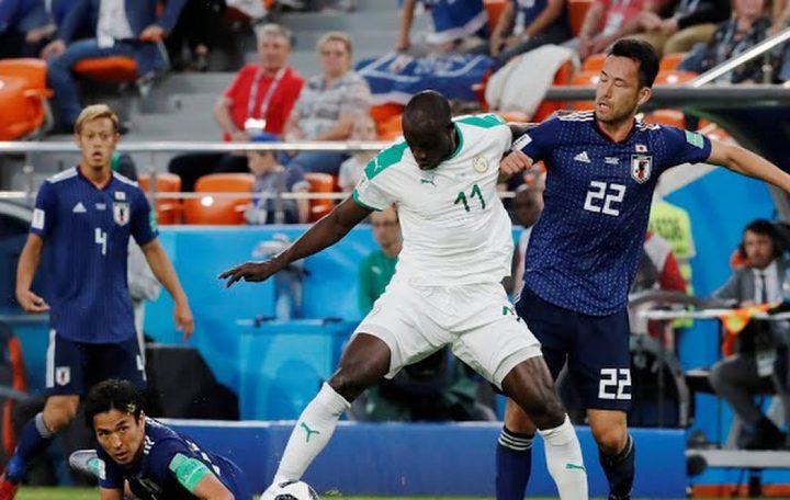 انتهاء مباراة اليابان والسنغال بالتعادل الإيجابي