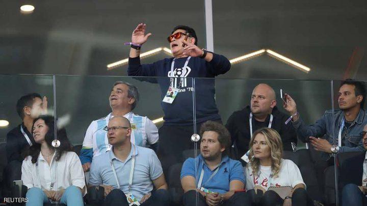 """مارادونا يتدخل لإنقاذ """"شرف"""" الأرجنتين"""