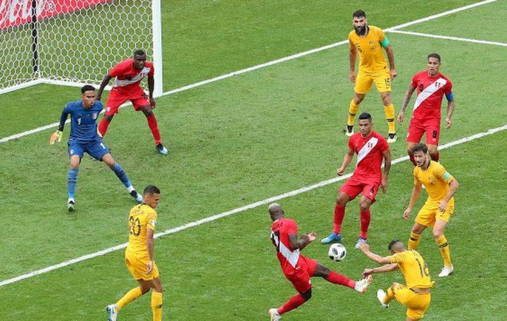 بيرو تنهي المغامرة الأسترالية بكأس العالم وتسحقها بهدفين