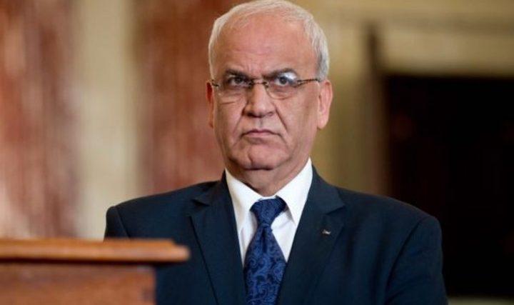 عريقات: اللجنة التنفيذية تدعم موقف أبناء ومؤسسات القدس عدم المشاركة في الانتخابات البلدية
