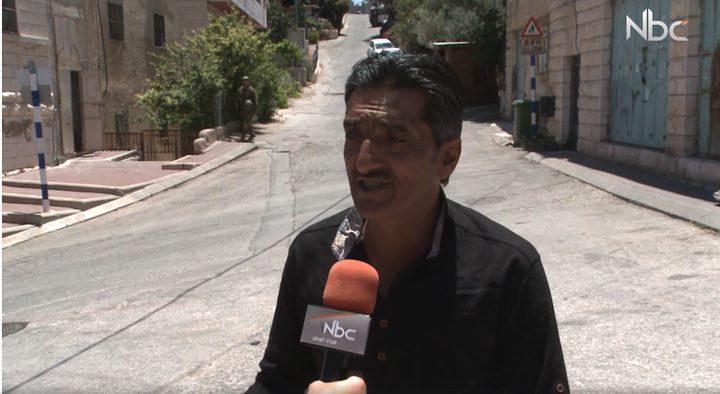 مضايقات الاحتلال لأهالي تل الرميدة(فيديو)