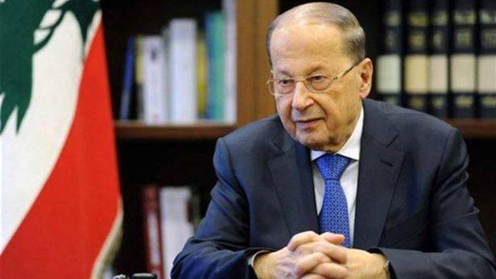الرئيس اللبناني: إسرائيل رفضت تسوية نزاع حدودي بحري