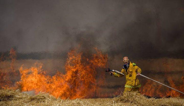 الإعلام العبري: 20 حريقاً اندلع منذ الصباح بفعل البالونات الحارقة