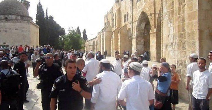 مستوطنون يواصلون اقتحامهم للأقصى بحماية قوات الاحتلال