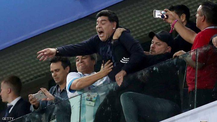 مونديال روسيا.. مارادونا يفقد صوابه ويثير الاستغراب
