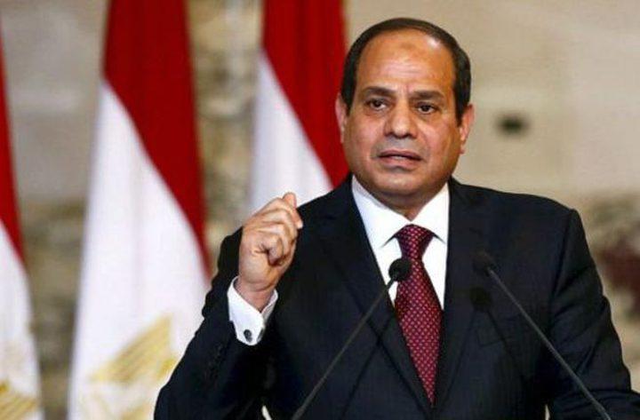 السيسي: مصر تدعم كافة المبادرات الدولية لتسوية عادلة وشاملة للقضية الفلسطينية