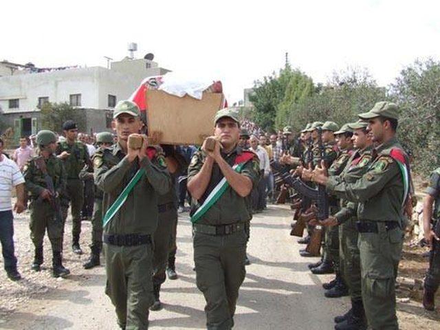 جنين: جنازة عسكرية في وداع شهداء الأمن الوطني