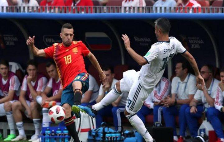 التعادل الإيجابي يخيم على مباراة روسيا وإسبانيا