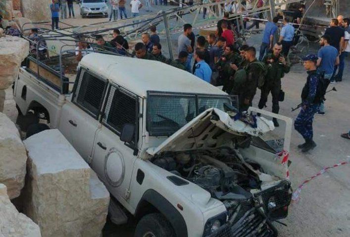 استشهاد ثلاثة عناصر من قوات الأمن الوطني بحادث سير جنوب جنين