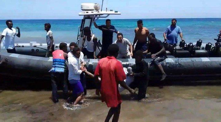 إنقاذ 115 مهاجراً غير شرعي قبالة الشواطئ الليبية