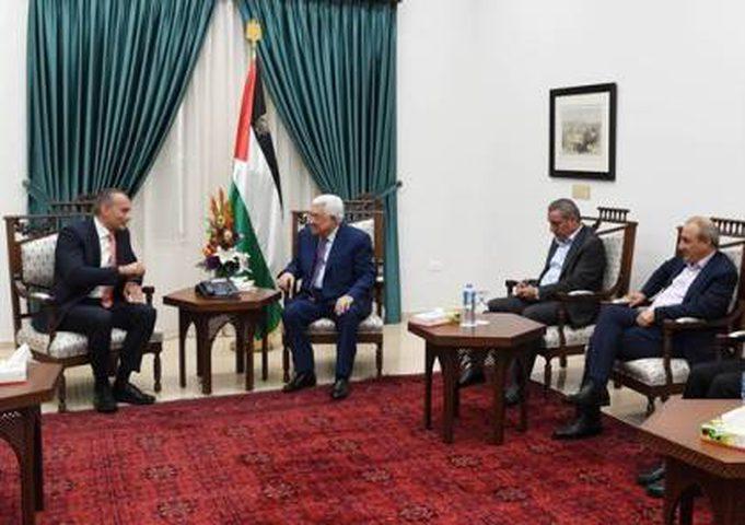 الرئيس يستقبل مبعوث الأمين العام للأمم المتحدة في الشرق الأوسط