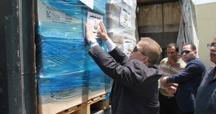 شحنة أدوية بمليون دولار لغزة
