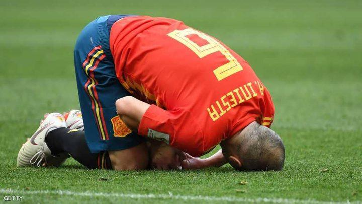 نجم إسبانيا يعلن اعتزاله بعد دقائق من الخروج الحزين