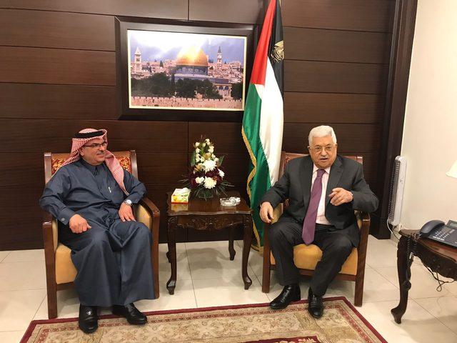 الرئيس يلتقي العمادي في رام الله