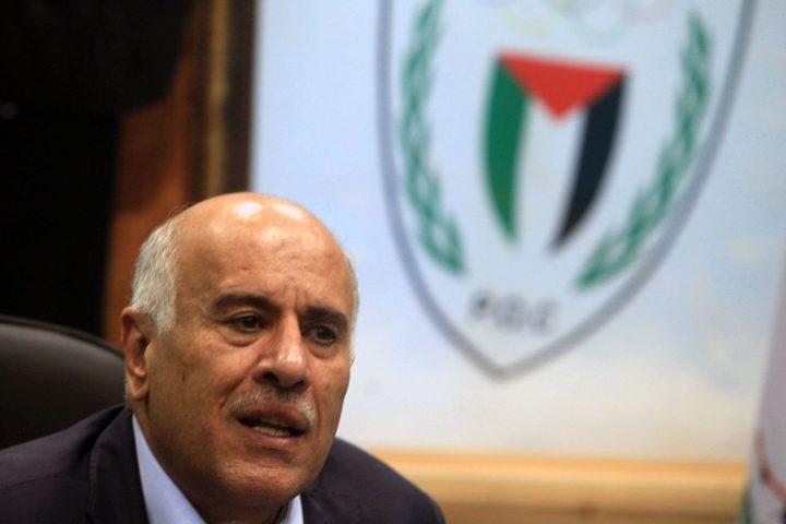 الرجوب يدعو بعثة فلسطين للألعاب الآسيوية للاجتهاد