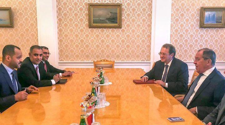 لافروف يلتقي الأمين العام لوزارة الخارجية العمانية