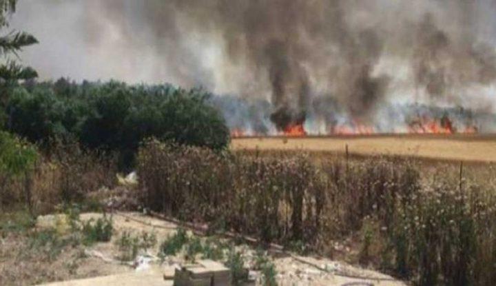 اندلاع حرائق في المستوطنات المحاذية لغزة