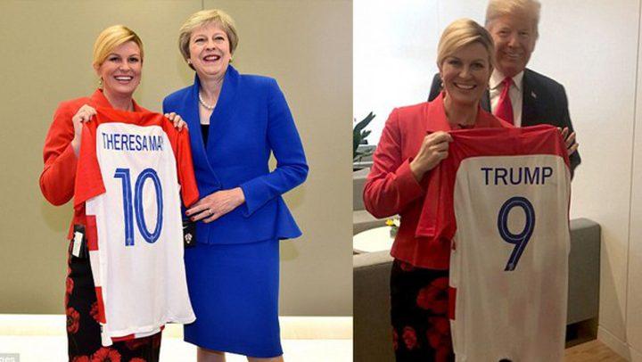 كيف دفعت رئيسة كرواتيا على تشجيع منتخب بلادها
