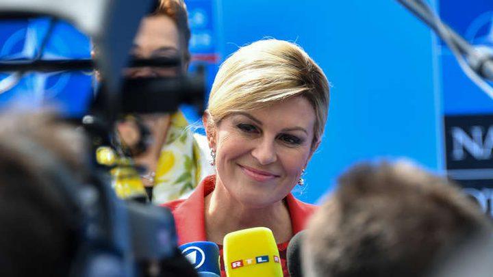 رئيسة كرواتيا: لا أعرف كيف أتماسك حتى الأحد