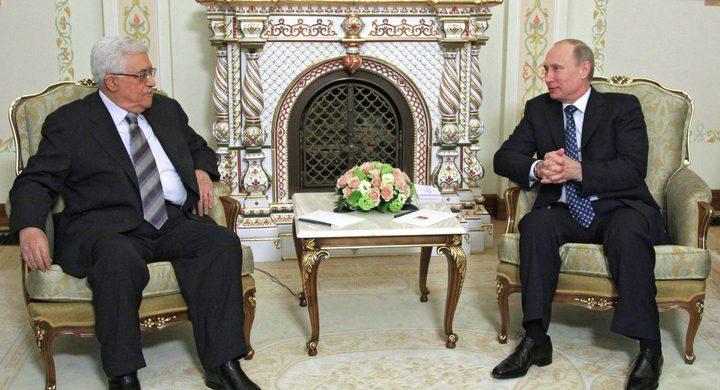 الرئيس عباس يجتمع مع نظيره الروسي