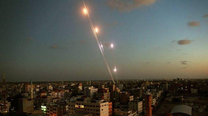 الاحتلال يرصد إطلاق 200 صاروخ من قطاع غزة