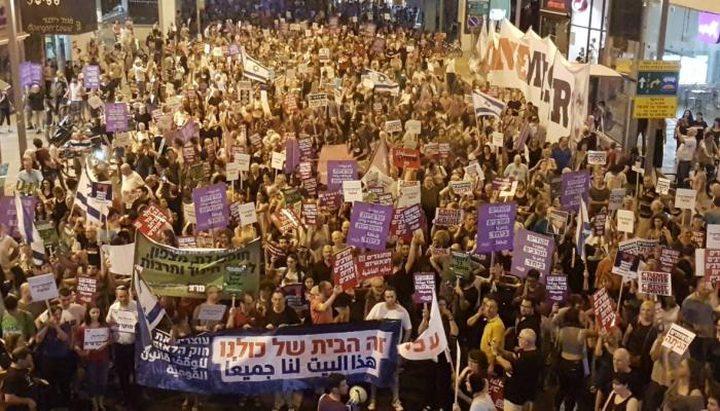 """آلاف الإسرائيليين تظاهروا ضد """"قانون القومية"""""""