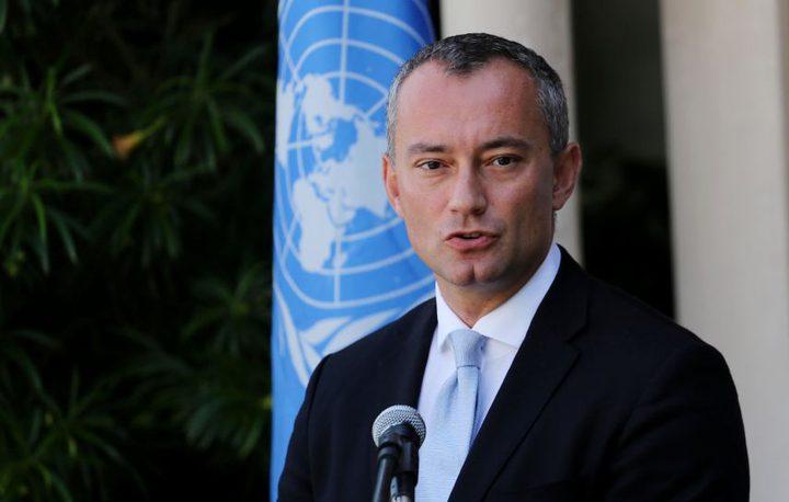 ميلادينوف يحذر من حرب جديدة على غزة