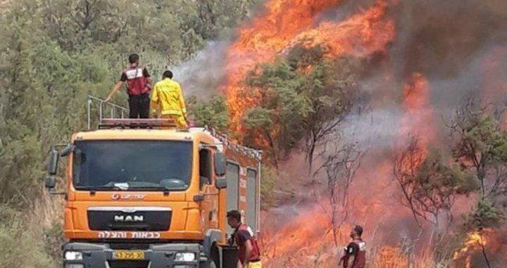 15 حريقًا بمستوطنات شرق غزة بفعل البالونات
