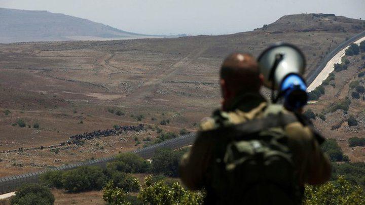 لاجئون سوريين يصلون حدود الجولان المحتل
