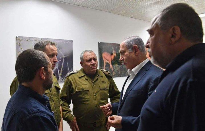 نتنياهو وليبرمان: مستعدون لأي سيناريو في قطاع غزة