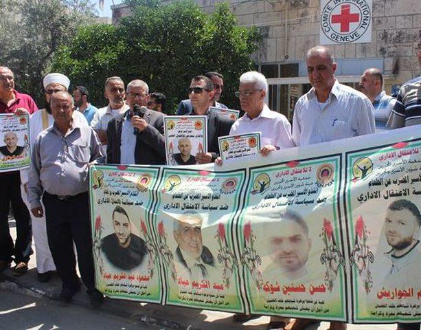 بيت لحم: وقفة تضامنية مع الأسرى المضربين عن الطعام