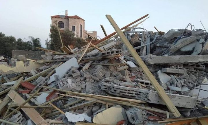 هدم 4 منازل عربية في اللد