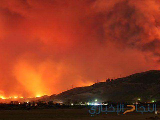 23 حريقا بمستوطنات شرق غزة بفعل البالونات الحارقة