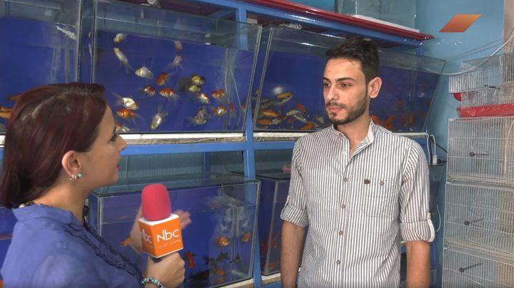 معرض كوكتيل الأسماك وطيور الزينة في قطاع غزة