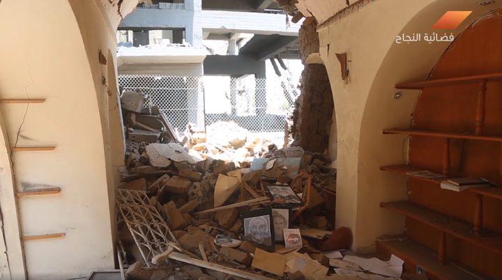 تضرر قرية الحرف نتيجة قصف الاحتلال لمنطقة الكتيبة