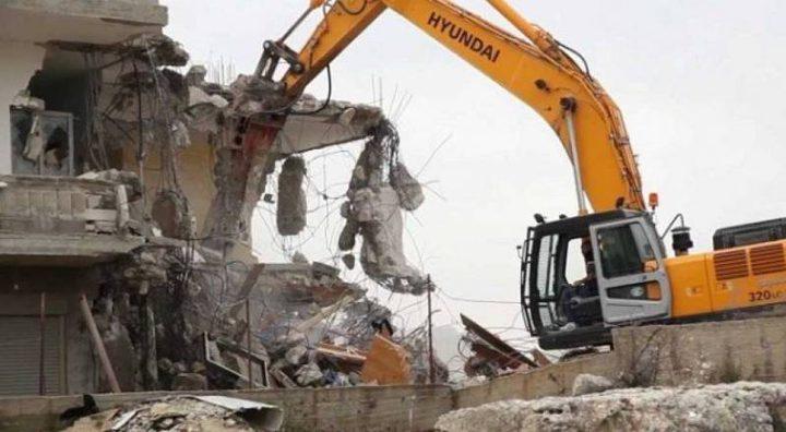 الاحتلال يهدم 4 منازل في بيت حنينا