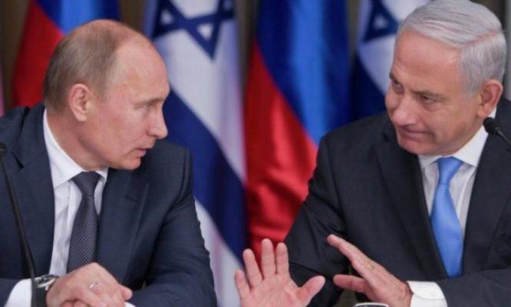 بوتين يبحث مع نتنياهو تطورات الشرق الأوسط وسوريا