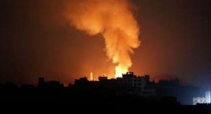 طيران الاحتلال يشن غارات متفرقة على مواقع للمقاومة
