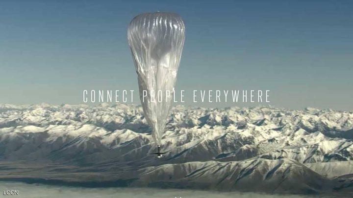 """""""لوون"""" تسعى إلى توفير الإنترنت عبر بالونات"""