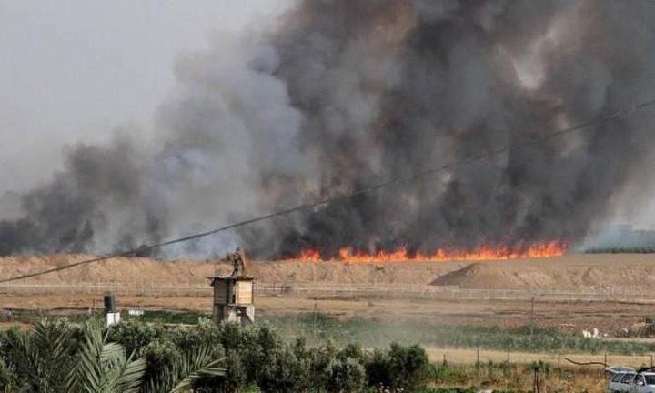 اندلاع حريق في الأحراش شرق غزة