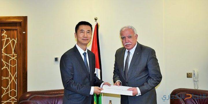 المالكي يسلم السفير الصيني رسالة شكر