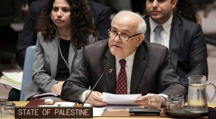 """منصور: أي خطط سلام لا تستجيب لحقوقنا """"بلا جدوى"""""""