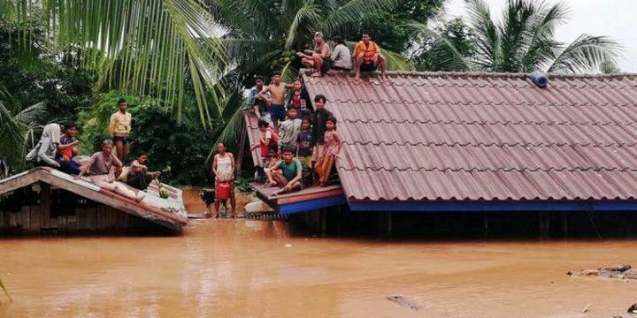 أولي_ العثور على 26 جثة بعد انهيار سد في لاوس